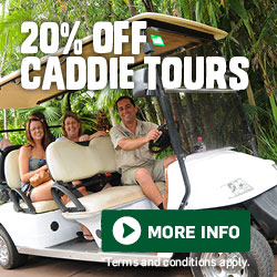 20% Off Caddie Tours All Year Round