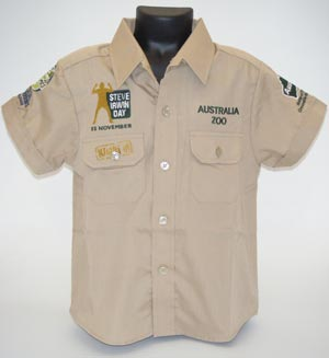 Steve Irwin Day Khaki Shirt Child