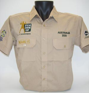 Steve Irwin Day Khaki Shirt Adult